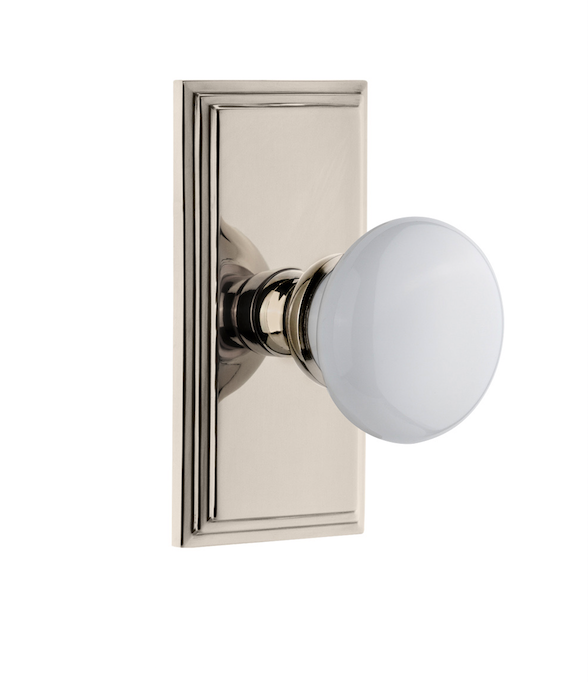 Hyde Park Knob In Polished Nickel From Grandeur Hardware