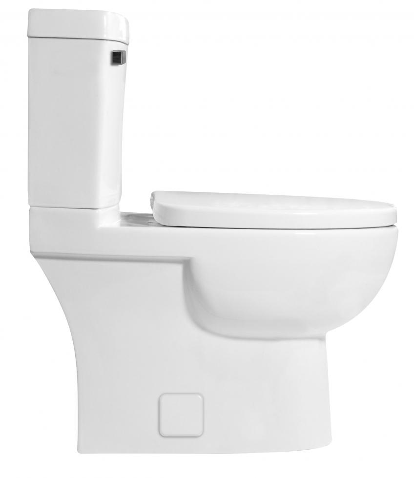 ICERA USA Malibu Low Flow Toilet For Small Bathroom Side View