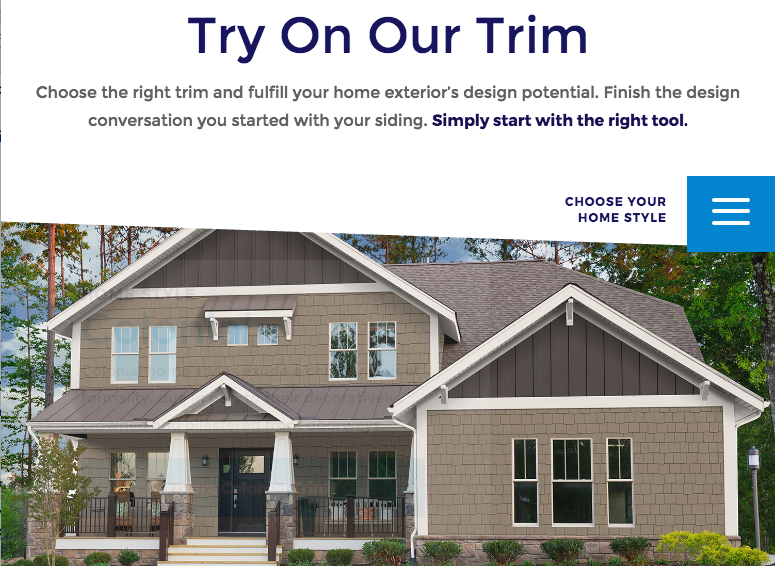A New Online Design Tool That Helps You Choose Exterior Trim Inspiration Home Exterior Design Tool