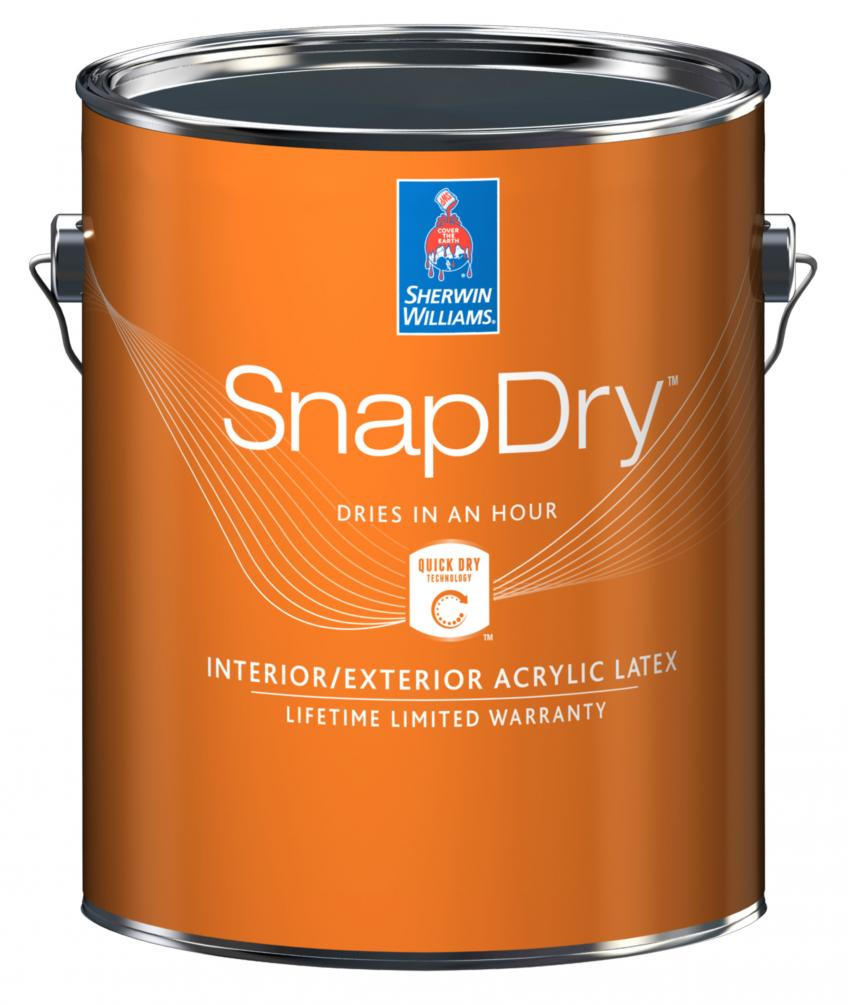 Sherwin williams snapdry residential products online for Acrylic paint water resistant