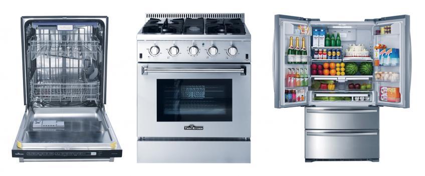 New Thor Appliances, Dishwasher, Range, And Fridge