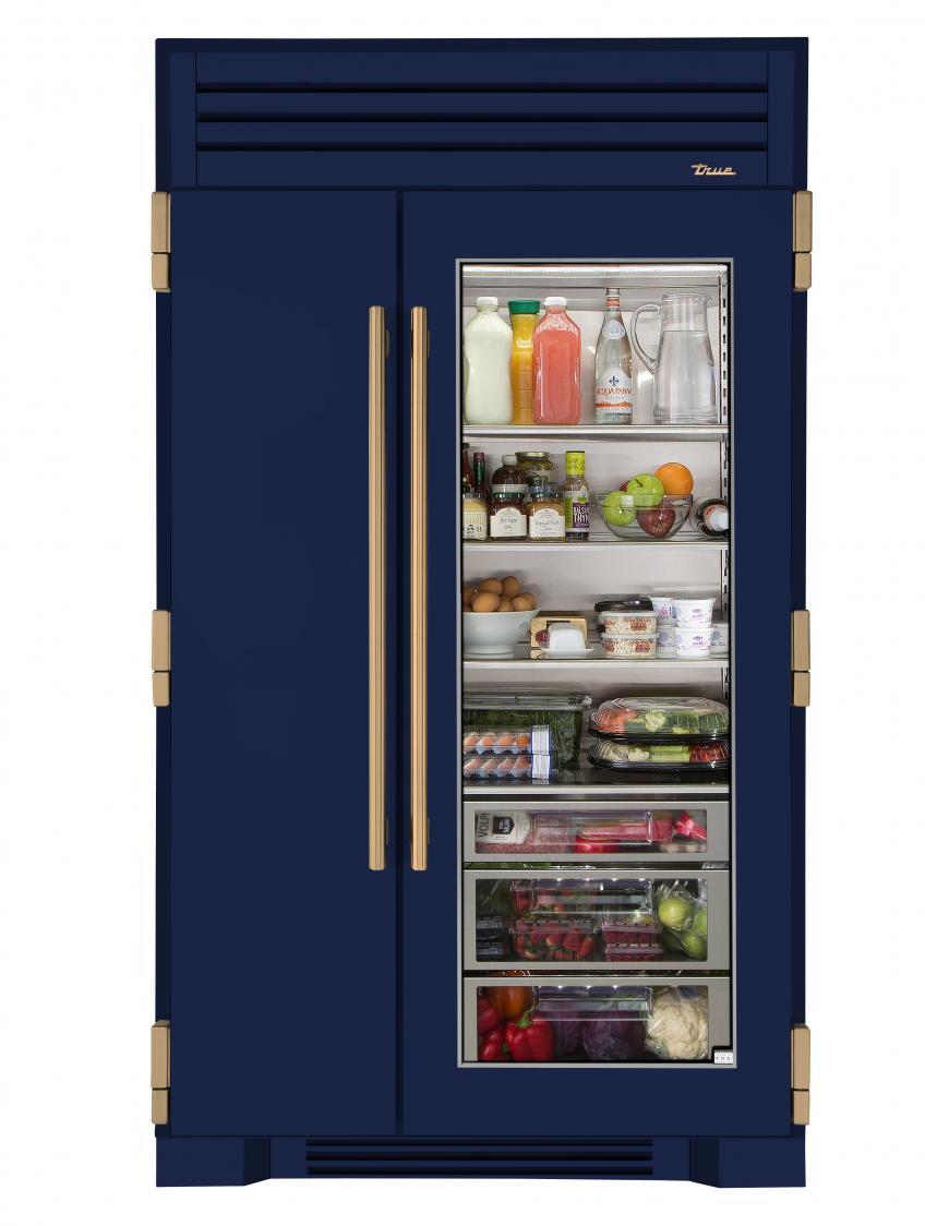 Ordinaire True Refrigeration 48 Inch Glass Door Fridge Cobalt Blue