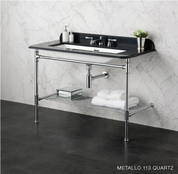 Victoria and Albert Metallo 113 black quartz towels