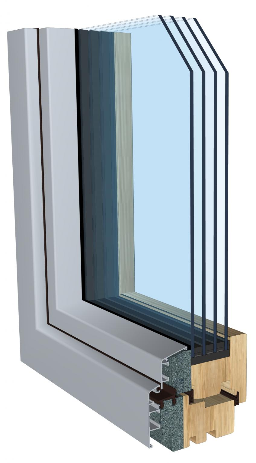 Arctic is a new premium performance window that can be used across a broad range of temperatures, including extremely cold climates. The Passive House Institute-certified window features a wood/aluminum frame, polyurethane-foam insulation, thermal glazing, and a superspace triple seal with butyl as a secondary seal. It offers thick insulation, boasting an R-value of 15 and quadruple glazing.