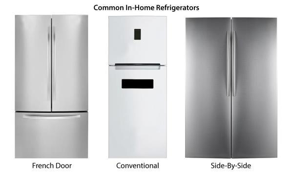 french refrigerator by vs side door