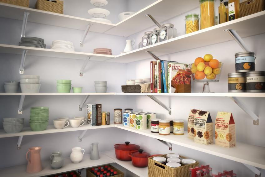 ClosetMaid Shelf And Rod System In A Pantry