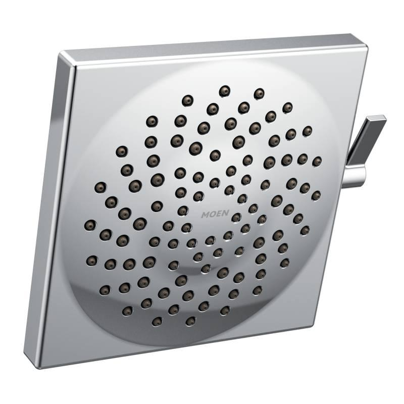 Moen has created a square-shaped version of its Velocity showerhead. The rain shower product offers two distinct spray functions: a concentrated rinse or full spray—and anything in between.