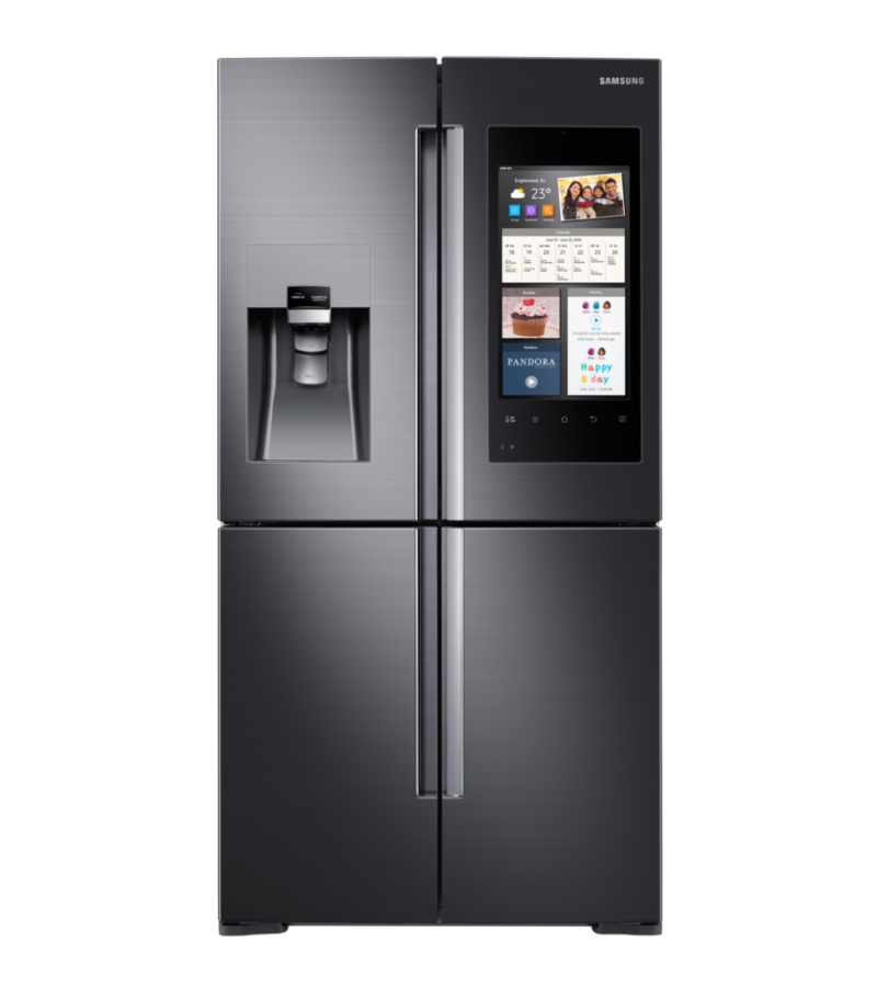 Genial This Four Door Refrigerator Boasts 28 Cubic Feet Of Capacity And A 21  1/2 Inch Connected Touchscreen To Stream Music, Videos, And TV.