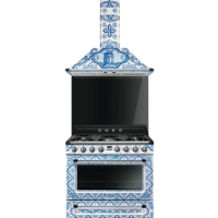 Smeg Dolce and Gabbana range and hood