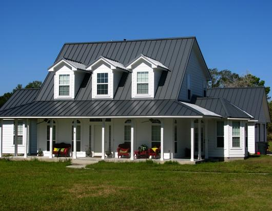 Custom Home with metal roofing