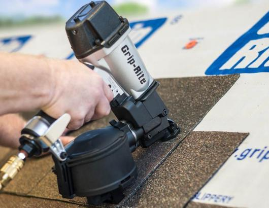 PrimeSource Building Products has introduced a new Grip-Rite coil roofing nailer