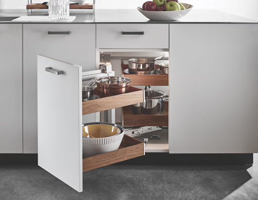 Hafele Fineline accessible cabinets