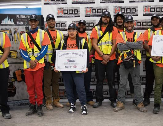 Klein Tools donation to Project Hood in Chicago