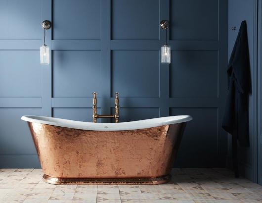 hammered copper wye tub