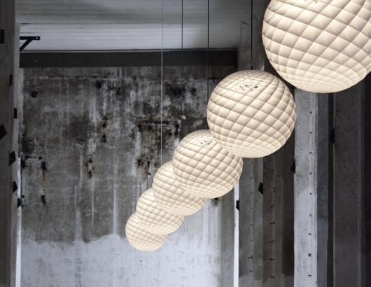 Louis Poulsen Patera pendants warehouse installation
