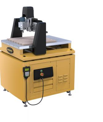 The manufacturer's two new CNC woodworking routers are mid-sized machines designed for small to medium-sized shops. Both routers are three-axis machines, in which the spindle works in the X, Y, and Z planes (X = side-to-side, Y= back-and-forth, and Z = up-and-down). They both provide XYZ travel of 24 inches by 24 inches by 6 inches.