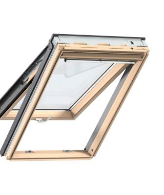 The top-hinged roof window allows homeowners to obtain panoramic views as well as natural ventilation. Ideal for loft or attic conversions, the unit features bottom operation, so it's easy to operate even with furniture placed directly under it. Products feature ThermoTechnology for energy efficiency, insulation, and an airtight seal