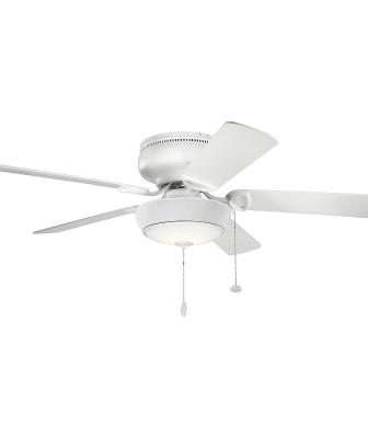 Bluetooth ceiling fan light from Kichler on a five-blade fan