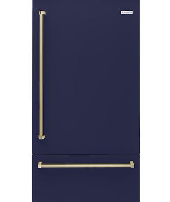 The company's first built-in refrigerator is a 36-inch unit with stainless steel interiors and stainless steel and glass shelves. Designed to offer commercial styling and performance, the refrigerator features an articulating hinge that enables built-in or flush mounting, ramp-on LED lighting, and OLED touch-screen control.