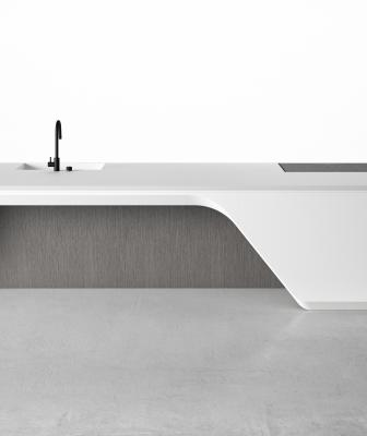High-end Italian kitchen and bath brand Boffi has introduced a new line of kitchen cabinets designed by the late pioneering architect Zaha Hadid.