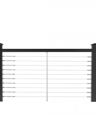 Deckorators cable railing in black