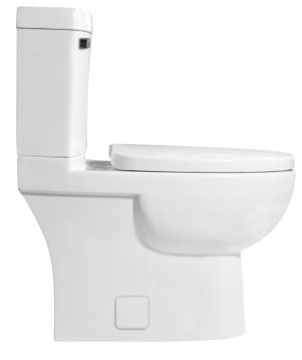 ICERA USA Malibu low flow toilet for small bathroom side view