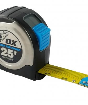 Cranford, N.J.-based OX Tools has introduced a new tape measure that features a corrosion-resistant stainless steel case with a rugged over-mold.