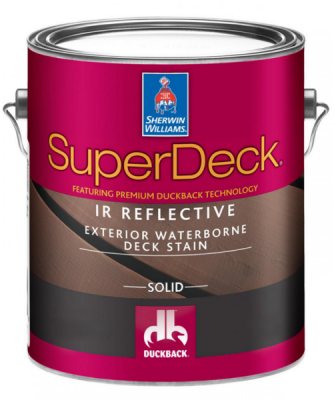 Sherwin Williams super deck can lowers deck temperature