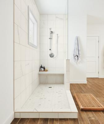 State Of Grace porcelain marble tiles bathroom