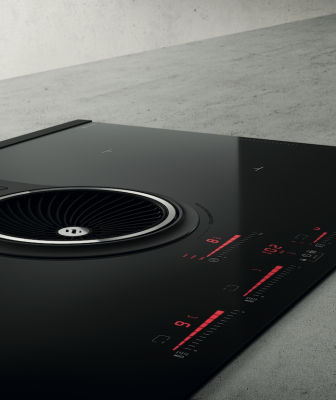 The First Induction Cooktop Equipped with Built-in Ventilation