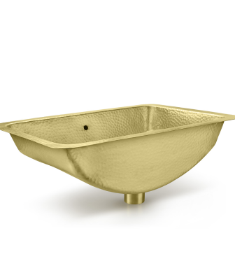 Thompson Traders hand-hammered brass sink