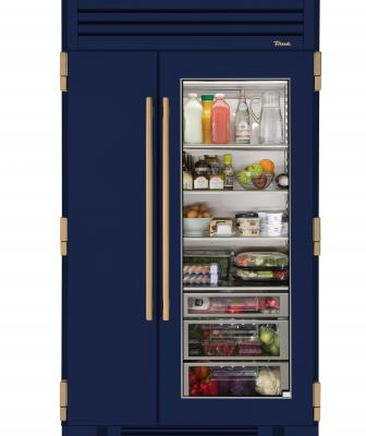 True Refrigeration 48 inch glass door fridge cobalt Blue