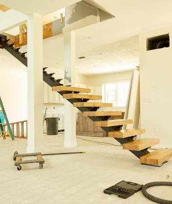 Viewrail Flight floating staircase installation