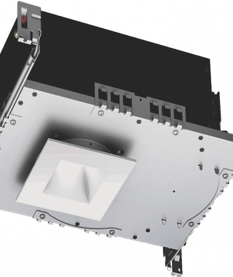 The new Aether LED downlight features a 3½-inch housing that allows it to fit into ceilings with a thickness of ½ inch to 1½ inches. Available with a 25-degree narrow beam or a 40-degree flood beam, it offers a color temperature range between 2,700K and 4,000K and a 70,000-hour life. It also operates with 22.5 watts and produces up to 1,375 lumens.