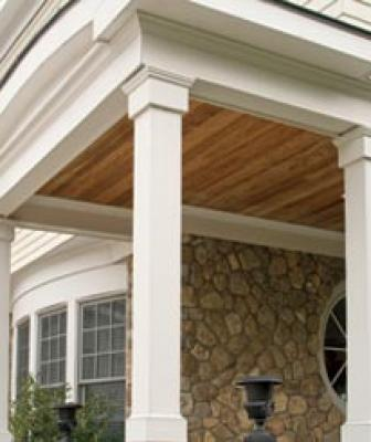 KLEERWrap™ Post Wraps feature advanced PVC technology and encase existing porch posts with a natural wood look that is virtually impervious to moisture and insects. Easily installed by one person when using Kleer PVC adhesives. Each kit includes two Bed Moulding Sets. Additional Bed, Crown, Base/Cap Moulding and Outer Wrap Sets are available separately.