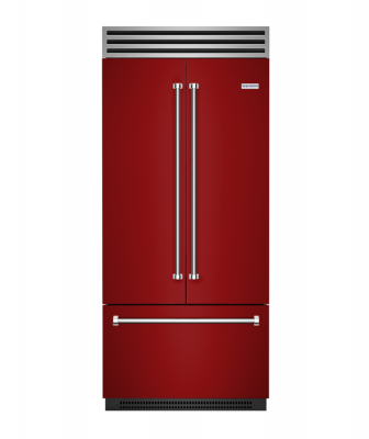 BlueStar red french-door refrigerator
