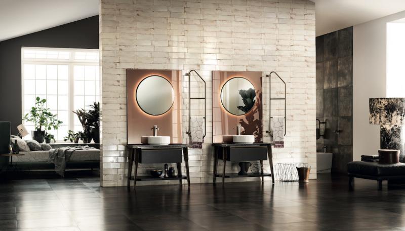 Scavolini Diesel OpenWork Double Vanity with mirrors