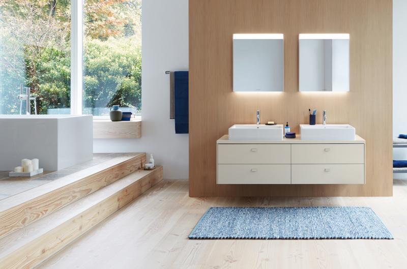 Duravit Brioso with Vero Air vanity and mirror