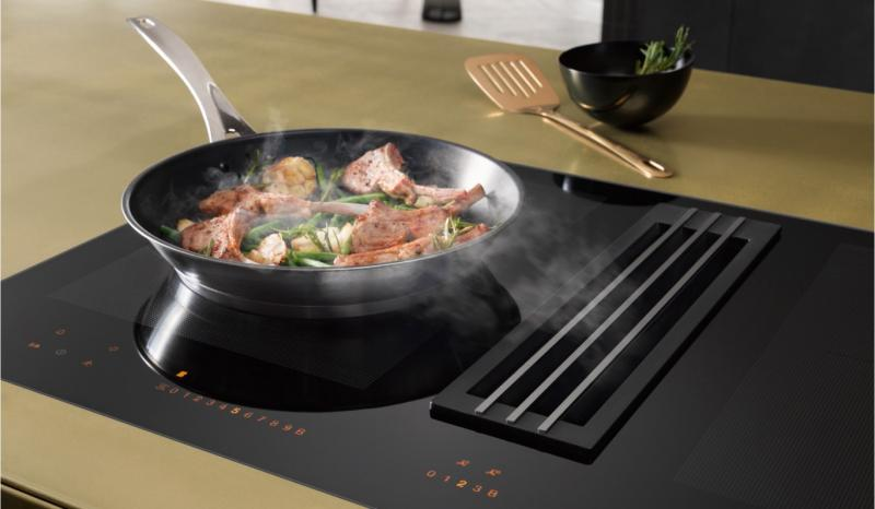 Miele TwoinOne built-in ventilation on induction range