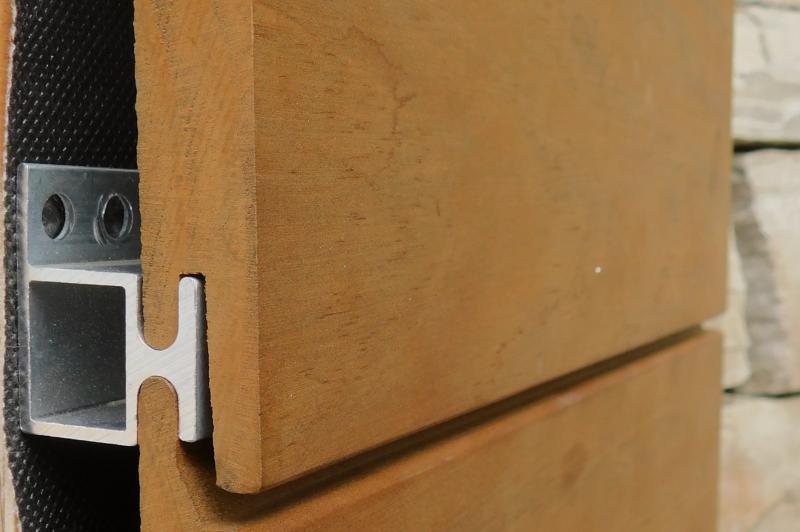 Kebon Rainscreen system for wood siding
