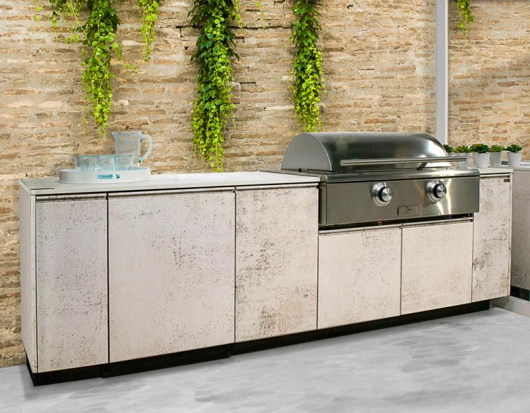 Brown Jordan Outdoor Kitchens TECNO Nilium finish STONEWALL