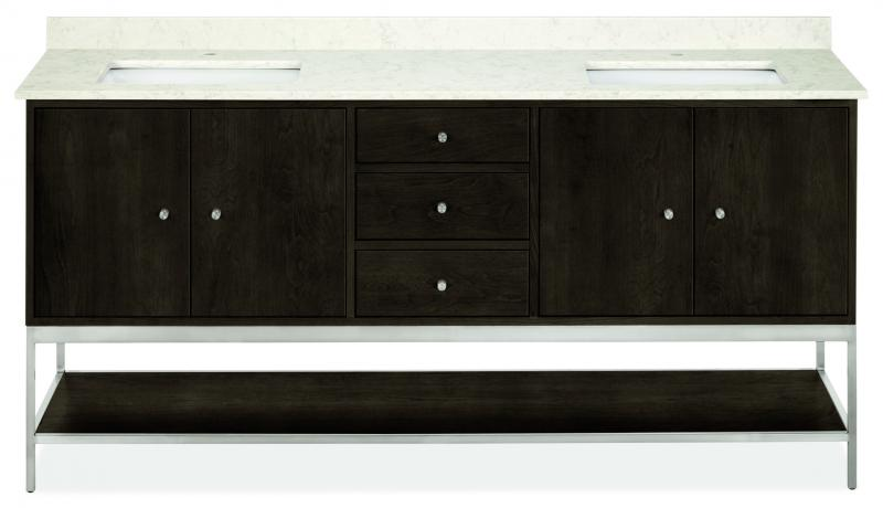 Room and Board Bath Collection linear Ash with stain