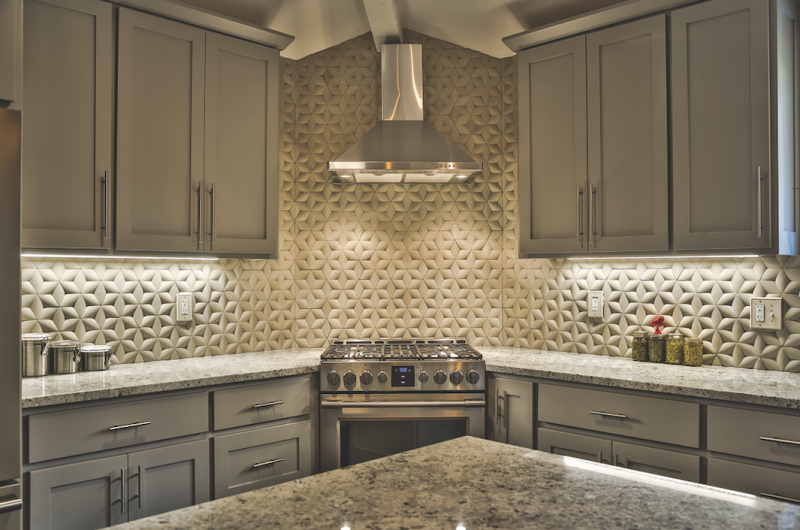IslandStone ParagonHex kitchen wide