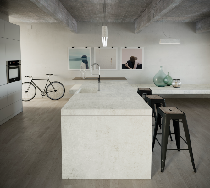 Cosentino Dekton Industrial Collection Lunar Loft Space