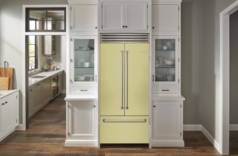 BlueStar Collaboration with Eric Cohler Savor the Seasons French Door Refrigerator in Spelt