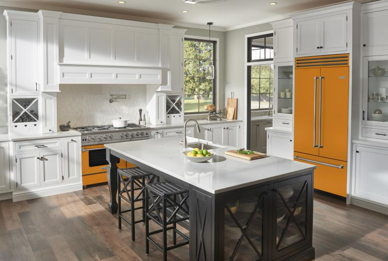 BlueStar Collaboration with Eric Cohler Savor the Seasons French Door Appliances Persimmon