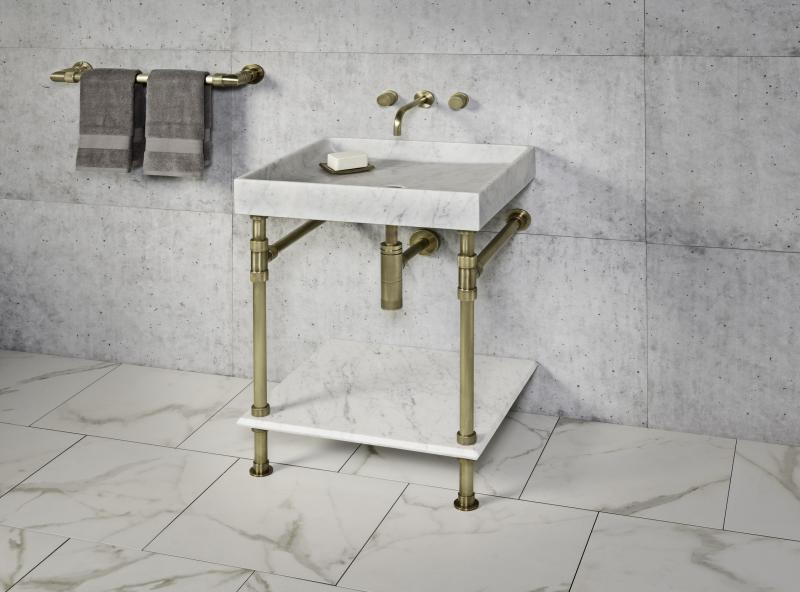 Stone Forest Sinks Elemental Collection stand with Ventus bath sink