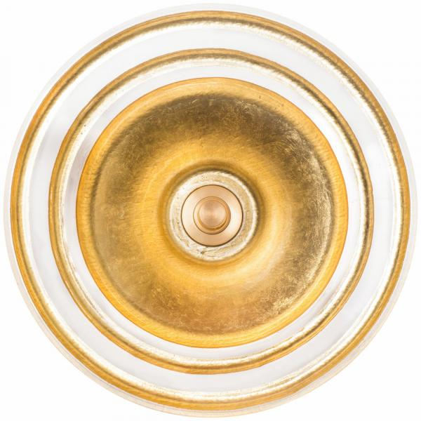 Linkasink Artisan Glass Sink round vessel eglomise stripe gold