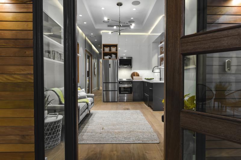 Pearl Homes Hunters Point Homes Marina Zero Energy Development Kitchen Living