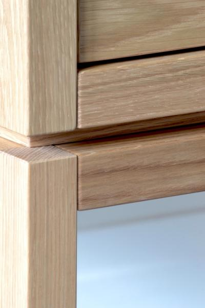 Coquo solid white oak construction detail